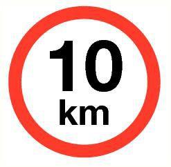 Pictogram maximum snelheid 10 km