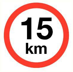 Pictogram maximum snelheid 15 km