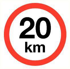 Pictogram maximum snelheid 20 km