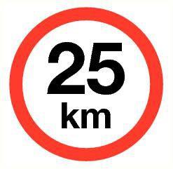 Pictogram maximum snelheid 25 km