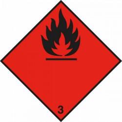Sticker Brandbare vloeistoffen klasse 3 300x300mm