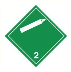 Sticker niet brandbare gassen(2)
