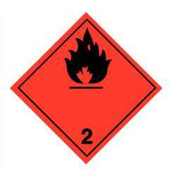Sticker brandbare gassen (2)