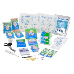 Inhoud van de Care Plus waterproof verbandmiddelen set