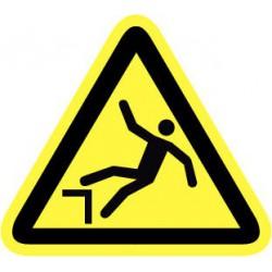 Pictogram gevaar door hoogteverschil