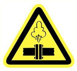 Sticker gevaar hete dampen 200