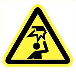 Sticker gevaar hoofd stoten 90mm