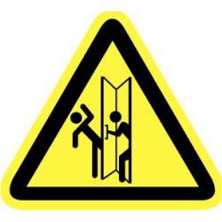 Sticker gevaar bij openen deur 200mm
