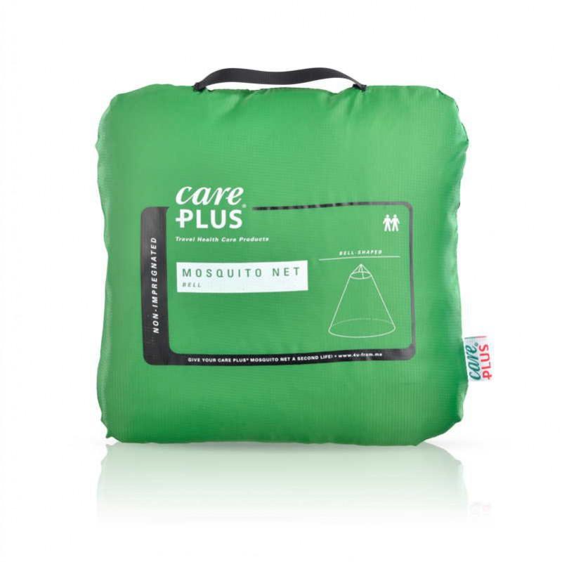 groene verpakking met tekst Care Plus en muskietennet